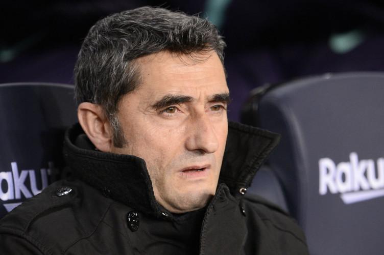 Barcelona coach Ernesto Valverde.