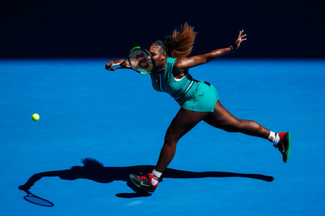 Marching on: Serena Williams.