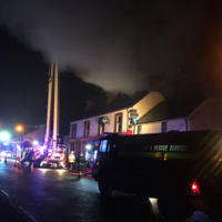 Fire services extinguish early morning blaze at Laois pub