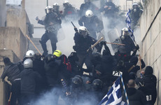 Violent clashes erupt in Athens as tens of thousands protest Macedonian name deal
