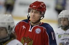 WATCH: Vladimir Putin scores winning goal in amateurs v legends ice hockey match