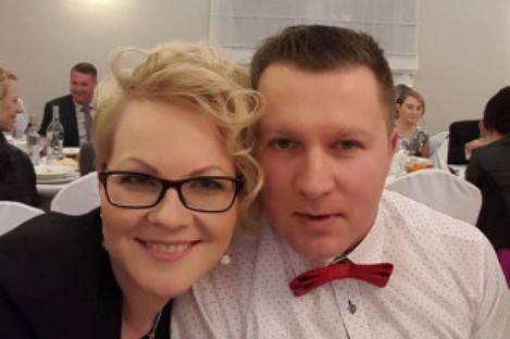 Mikolaj Wilk with his wife Elzbieta.