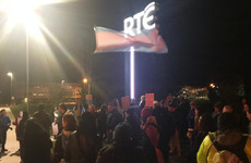 Trans activists hold protest outside RTÉ studios ahead of Prime Time programme tonight