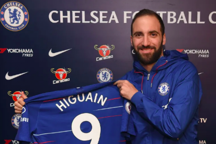 Higuain was unveiled on Wednesday evening.