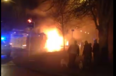Fire services extinguish blaze after bus catches fire on the Navan Road in Dublin