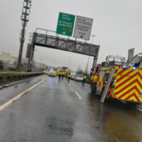 Woman in her 30s killed and man injured in multiple vehicle crash on the M50