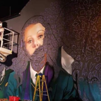 The Derry Girls cast have been painted like 'one of your French girls' in a new mural