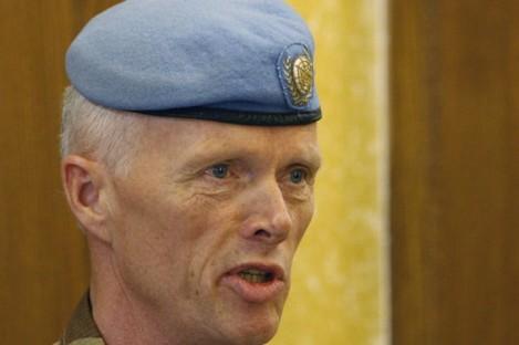 The head of the U.N. observer mission to Syria, Maj. Gen. Robert Mood