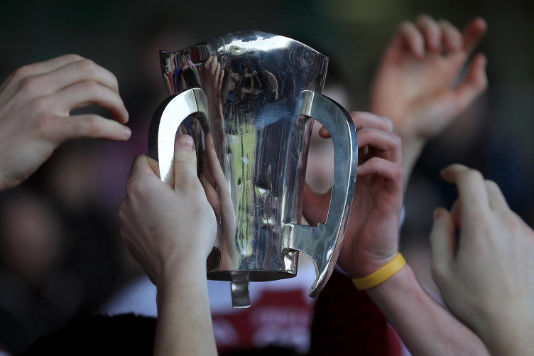 The prize on offer in next month's Dr Harty Cup final.