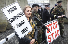 'We never want to see a border': Protesters warn against a hard border Brexit with mock checkpoint