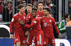 Resurgent Bayern Munich clinch seventh win in a row to keep pace with Dortmund