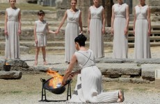 Torch lit in Greece as Games countdown gets underway