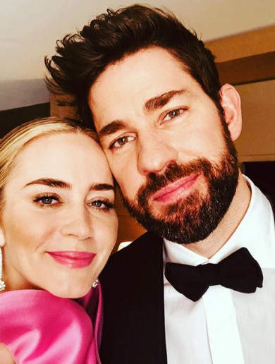 Emily Blunt made John Krasinski cry during her SAG Awards speech... it's The Dredge