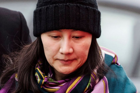 Huawei chief financial officer Meng Wanzhou arrives at a parole office in Vancouver last month.