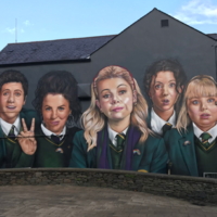 The giant Derry Girls mural has been completed - and here it is