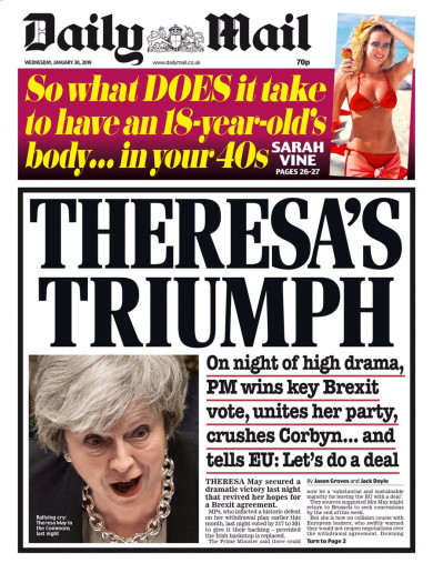 'Backstop from the brink': UK front pages react to Brexit latest