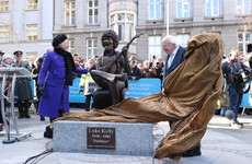 'He lives on': Two Luke Kelly statues unveiled in Dublin city