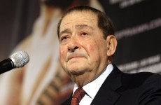 Here's the interview where Bob Arum compared Floyd Mayweather to Goebbels
