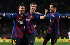Coutinho thanks Messi for penalty gesture amid Barcelona's cup triumph
