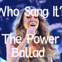 Who Sang It? Match the power ballad to its artist