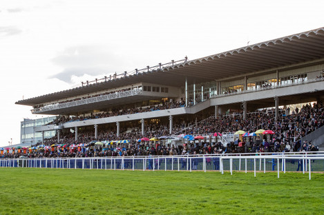 A general view of the stand at Leopardstown Racecourse.