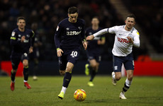 Irish international trio feature as Preston and Derby share the spoils