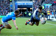 Kinghorn claims hat-trick in classy Scotland bonus point win over Italy