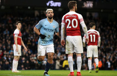 Pressure back on Liverpool, as Aguero-inspired Man City overcome Arsenal