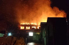 Buncrana Main Street closed as major fire engulfs building
