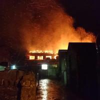 Buncrana Main Street closed as major fire engulfs building