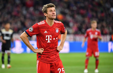 Liverpool handed boost as Thomas Müller ruled out of Champions League knockout tie