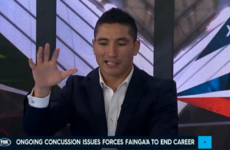 'I was standing up at the altar, getting held up': Fainga'a shares frightening concussion experience