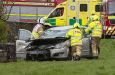 Garda rescues couple and baby from overturned car just before it catches fire