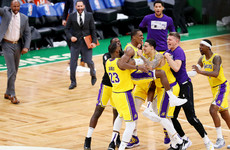 Rondo's buzzer-beater lifts Lakers past Celtics
