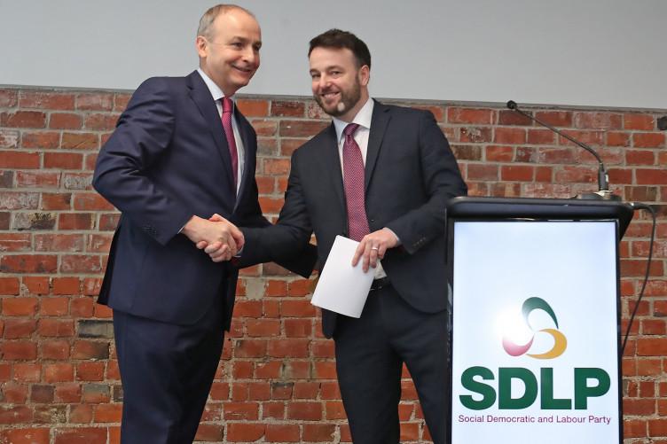 Fianna Fail leader Micheál Martin and SDLP leader Colum Eastwood.