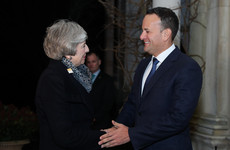 Theresa May arrives in Dublin for crunch talks with Varadkar