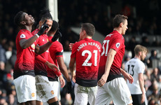 Pogba scores twice as Man United ease past Fulham to move into fourth place