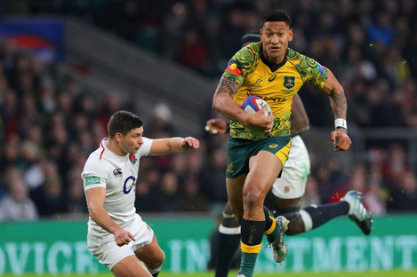 Folau in action against England back in November.