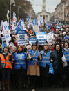 'This campaign has to succeed, it is our time': Tens of thousands march in support of nurses and midwives
