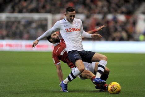 File photo of Alan Browne in action for Preston.