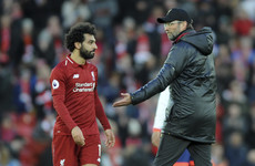 'He played an outstanding game' - Klopp praises Salah after hitting 20 goals in back-to-back seasons