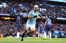 Aguero nets 11th Premier League hat-trick as Man City smash six past Chelsea