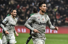 Ronaldo on target with 20th goal of the season as Juventus go 11 points clear in Serie A