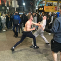 One arrested after large crowd gathers around two men fighting on Dublin's O'Connell Street