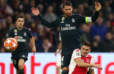 Sergio Ramos denies he picked up an intentional booking against Ajax