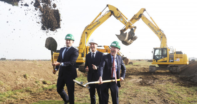 Sod turned on the new runway at Dublin Airport, but some residents are not happy