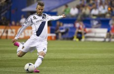 37-year-old Beckham rolls back the years with trademark free kick