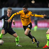 Carlow's Padraig Amond scores against Man City but Newport suffer FA Cup exit