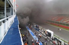 Fire breaks out in Williams garage after Spanish GP win