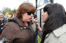 Confrontation at 'No To Racism' rally in Rooskey